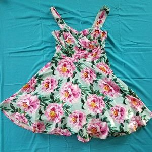 Floral satin dress by Modcloth